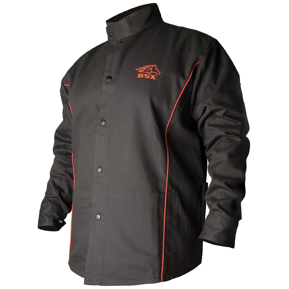 B9C BSX® Contoured FR Cotton Welding Jacket, Black