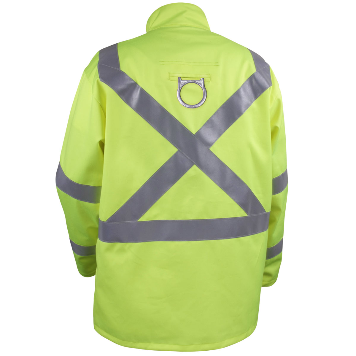Hi-Vis Lime BLACK STALLION JF1012-LM Flame Resistant Jacket L Cotton